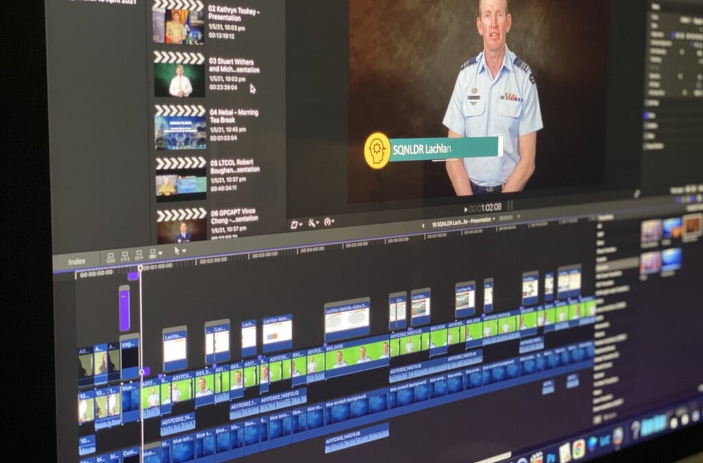 Video editing for an online conference presentation